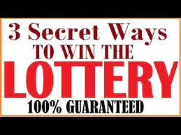The Secret on How to Win Lottery